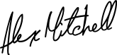Alex Mitchell signature